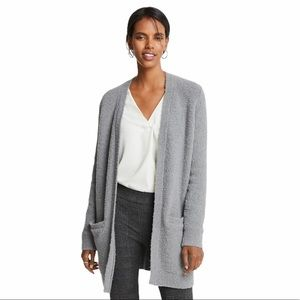 NWOT Ann Taylor Luxe pocket boucle cardigan sz med